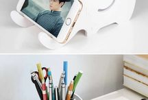 pen og mobil holder