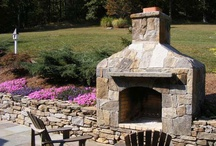 Outdoor Fireplaces / Bring those inside elements out. An outdoor fireplace adds warmth to your patio and gives you one more reason to enjoy being outside. It will also give you a longer outdoor living season.