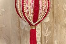 Новогодние шары из текстиля