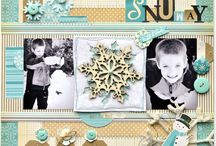 Christmas scrapbook pages