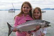"""We love the kids! / Here's our younger anglers hard and work (and hard at play) showing us you don't need to be """"old"""" to bring 'em in!"""