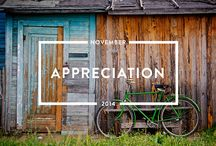 Appreciation - November 2014 / Read the #appreciation issue of mindful matter http://www.holstee.com/blogs/mindful-matter / by HOLSTEE