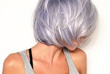 silver purple short hair