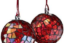 Christmas Mosaics / Feeling inspired to create a mosaic?  Use PromoCode PIN5 to save 5% off all of your handcut, stained glass tiles at www.MosaicTileMania.com.