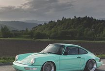 Cars in Teal Mint Turquoise