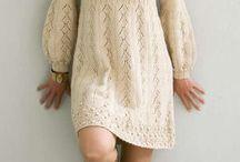 Strikkede tunika/kjoler