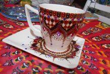 porcelánfestés / kézzel festett porcelánok