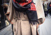 Safari Tribal trend Orvana  / Hand woven wool kimono dress and shawl