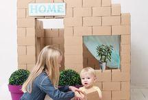 Jeux de construction / Des jouets pour construire des cabanes, des structures, des routes... En carton, en bois, en papier ou en plastique pour donner vie aux création de nos petits architectes créatifs.