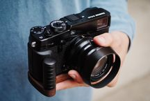 Kamera Handgriff camera grip wood