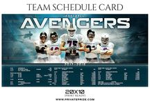 Schedule Card Photoshop Templates