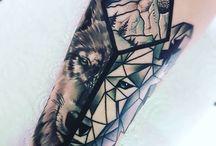 Wolf tattoo!
