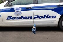 SoundOff Signal Gnome / The police mascot Gnome from SoundOff Signal recently came to visit Adamson Industries.  We had a great time with a little work and a little play.  Most definitely had to take a trip to Fenway with the Gnome!