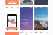 Beatiful app design / App design - UI UX and Colors