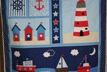 adornos dormitorio y cumpleaños marineros