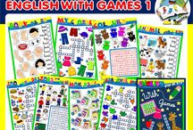 ENGLISH STEP BY STEP WITH GAMES 1 / This pack contains 11 units covering the following themes:  -farm animals and pets,  - wild animals,  - body parts,  - clothes,  - colours,  - food and drinks,  - jobs,  - months,  - cardinal numbers,  - school objects,  - weather.  All units include 1 picture dictionary, 1 matching activity, 1 crossword puzzle and 1 word search puzzle. http://eslchallenge.weebly.com/crosswords-and-word-search-puzzles.html