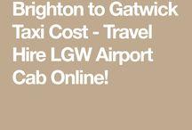 Airport Taxi Brighton to Gatwick