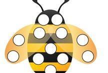 Весна.Пчёлы / Рабочие листы,диарамы,хендмейд , флешкарточки для обучения детей / by Алиса