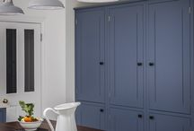 BLUE KITCHEN / British Standard Cupboards painted in Dulux Niagra Blues