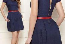 Vestidos azuis chik