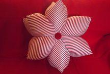 Mis almohadas melinamartinez / Differentes tipos y formas de almohadas.  En algunas se aprecia el uso de las rayas en diferente combinacion.