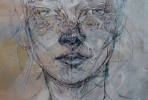 Jason Thielke painting illustration faces drawing