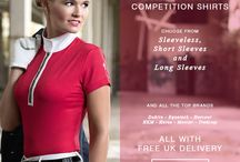 Women's equestrian competition shirts
