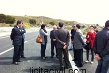 Apertura al trafico Autovia Mediterraneo Los Gallardos / Apertura al tráfico de la Autovía del Mediterráneo el 29 de abril de 2013, en Los Gallardos, Almería. El PK 514+300 quedó totalmente cerrado al tráfico por las lluvias sufridas el 28 de Septiembre de 2012.