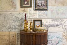Ideal Home Magazine Feature / We introduce our 'Old Maps' mural, from our popular Travel Memories collection, which was featured in the September 2014 issue of the Ideal Home magazine.  This wallpaper mural is supplied in 5 easy to hang panels each measuring 46.5 cm across by a length of 2.70 metres, but thanks to digital printing we can now offer 'made to measure' murals to fit the exact size of your wall. Please contact us for further details and prices!