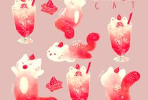 Cute art cats