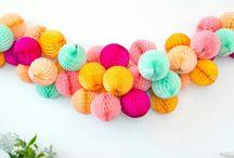 Bolas de papel / Honeycomb balls / by La Fiesta de Olivia