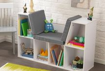 Kids Bookcase With Reading Nook Cushion