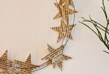 Paper star wreaths / Book pages & wire