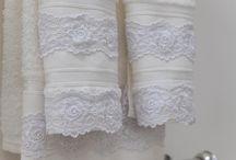 Lace guest towels