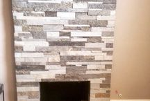 Fireplaces / Fireplaces in Tile or Stone