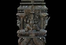 Ganesha in temple wood Kavadi