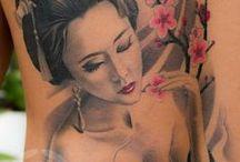 Geisha/HipHopqueen-Sleeve-Tattoo