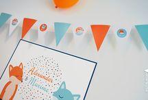 Vlaggenlijn / Een leuke vlaggenlijn brengt sfeer op het feest! Voor geboortes, verjaardagen, huwelijken, communies...