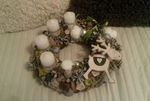 christmas decorations / Door decorations and advent wreaths