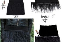 Skirt feathers