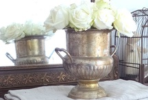 Decorating w/ Silver & Pewter / Decorating with antique silver, silver-plate, and pewter in the French Country and Farmhouse styles