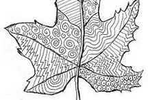 desenhos. de outono