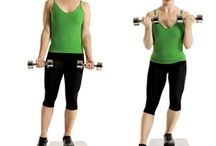 *BODY ~ EXERCISE W. DUMBELLS / Here is everything to do with dumb bells. They can be a pretty handy tool. I'm using canned goods at the moment till I can get a set. Works just as well for the time being.