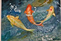 Acquarello soggetto mare