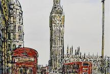 Nigel Cooke / Stunning Original Cityscape Artworks from an artist that is growing from strength to strength.