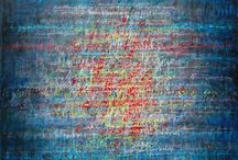 Ecriture musicale 4  (100 x 100 cm sur toile)