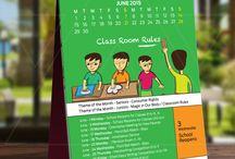 Atma -  Calendar Illustrations / Indian School Calendar Design and Illustration by Atma Studios, Coimbatore, India