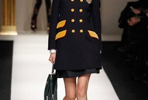 Military / Buttons, brass and soutache. Military-inspired fashion