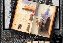 Journals and Sketchbooks / I've always found it fascinating to dig into diaries and notebooks....discovering other peoples inner worlds.   Am I curious of just nosey?? / by Linda Bailey Zimmerman