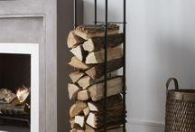 Firewood log holder indoor